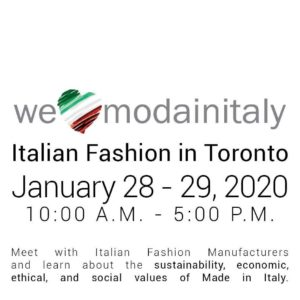"CNA Federmoda to launch ""WeLoveModainItaly Toronto"""