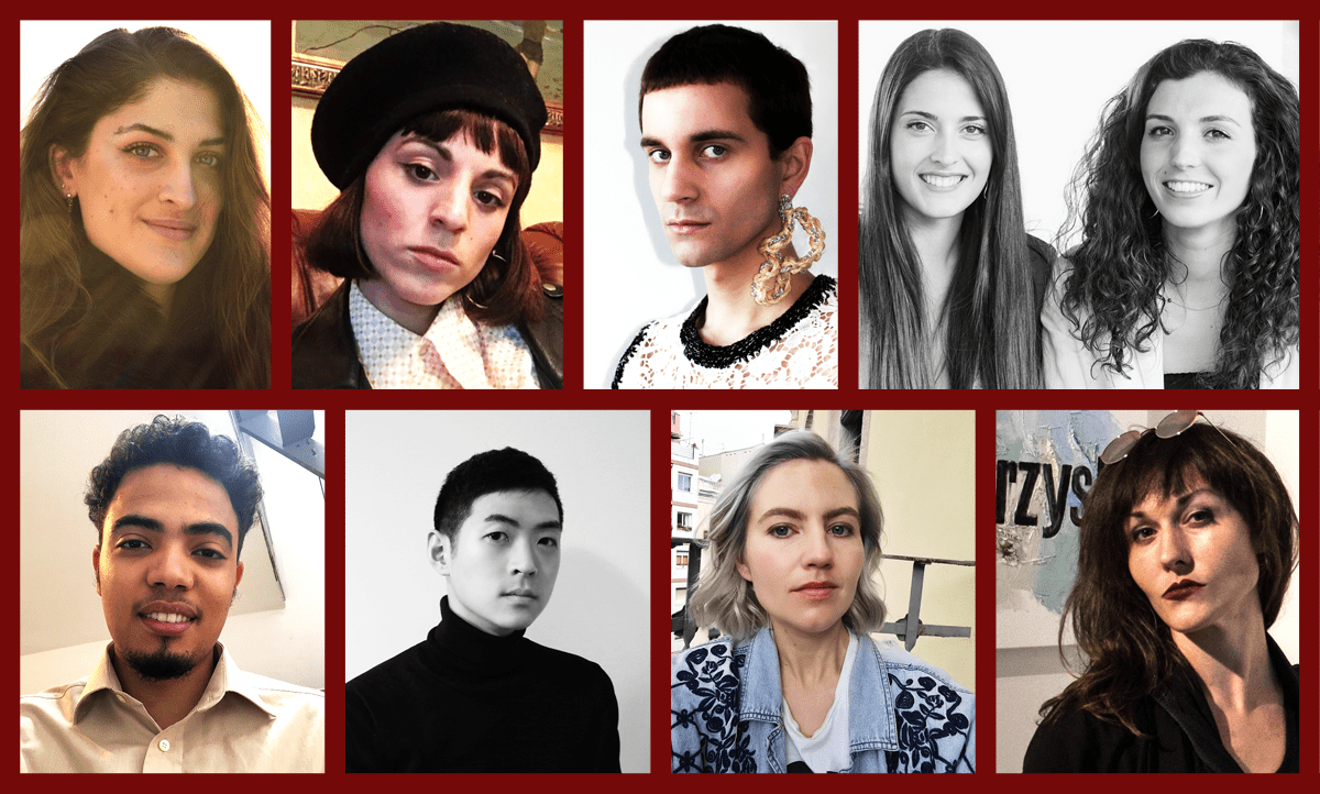 Portraits of the ten designers of the native project