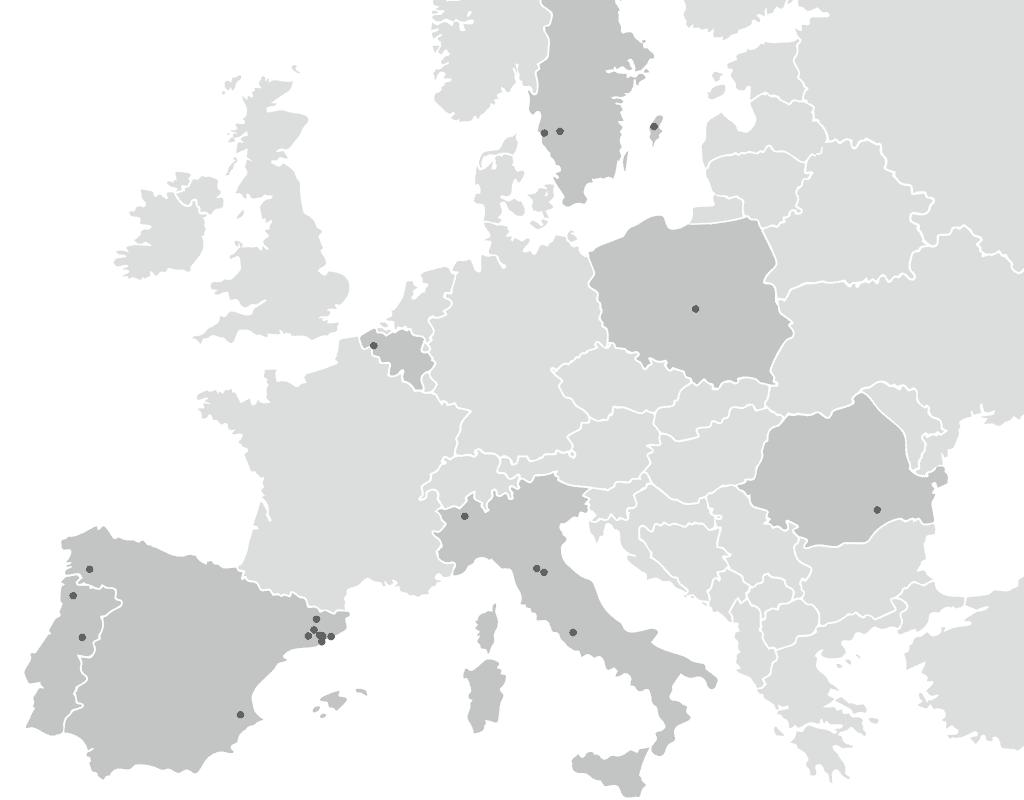 European map of ACTE members