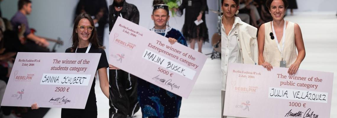 Rebelpin Fashion Awards by ACTE celebrates the Award winners at Berlin Fashion Week. 5th July 2018